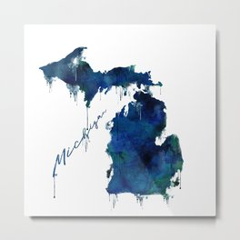 Michigan - wet paint Metal Print