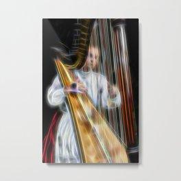 The Harp Player Abstract Metal Print