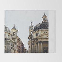 Piazza Del Popolo Rome Throw Blanket