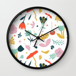 Flowers all over Wall Clock