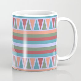 Stripes and Triangles African Pattern Coffee Mug