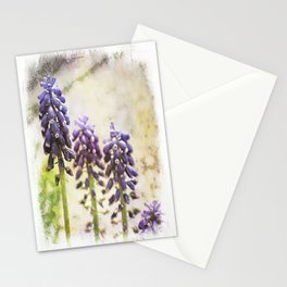 Spring Muscari Stationery Cards
