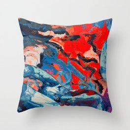Let frustrations flow Throw Pillow
