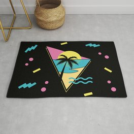 Memphis pattern 42 - 80s / 90s Retro / palm tree / summer Rug