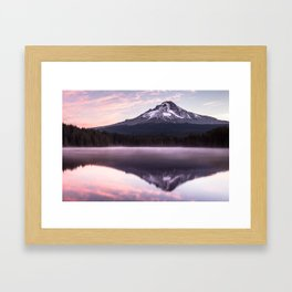 Lake Trillium Sunrise Framed Art Print