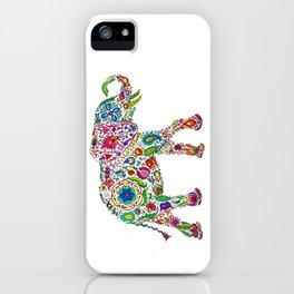 Flowery Elephant iPhone Case