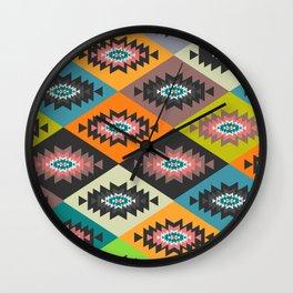 Festive geometric joy Wall Clock