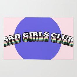 Sad Girls Club   Rainbow Multicolor Text Graphic Rug