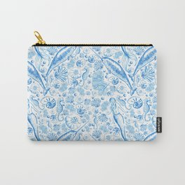 Mermaid Toile - Blue Carry-All Pouch