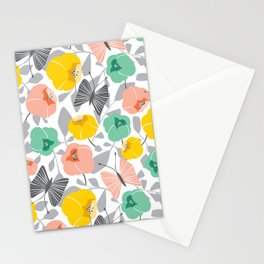 Butterfly Blossom Floral - Peach Stationery Cards