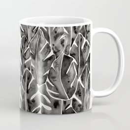 Split Leaf Philodendron - Black Coffee Mug