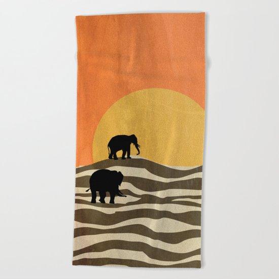 African Sunset Beach Towel