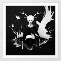 women Art Prints featuring Space Within by Ruben Ireland