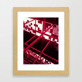Red Structure Framed Art Print