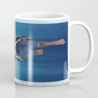korra Mugs featuring Korra Underwater by peony lang