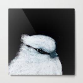 White Bird Black Background #decor #society6 #buyart Metal Print