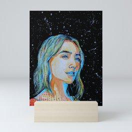Saoirse Ronan comics style Mini Art Print
