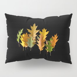 Variety coloured autumn oak leaves Pillow Sham