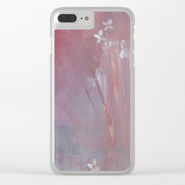 Sea of flowers Clear iPhone Case