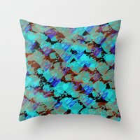 bianca green Throw Pillows featuring Bianca by Gonpart