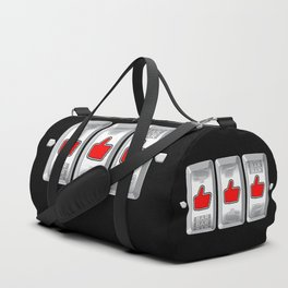 Jackpot / Slot machine hitting three thumbs up Duffle Bag