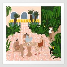 Au Café de la Jungle Art Print