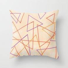 Warm Triangles Throw Pillow
