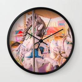 Vintage Carousel Wall Clock