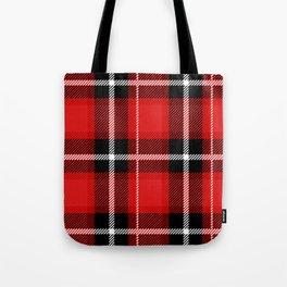 Red + Black Plaid Tote Bag