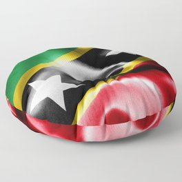 Saint Kitts and Nevis Flag Floor Pillow