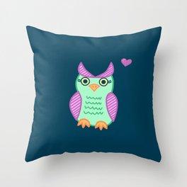 I heart owls. Throw Pillow