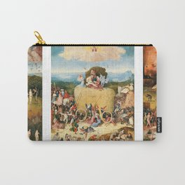 The Haywain Triptych by Bosch 1519 Carry-All Pouch