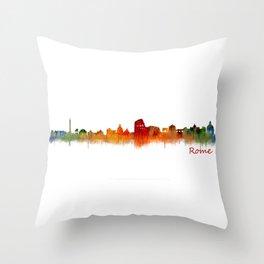 Rome city skyline HQ v02 Throw Pillow