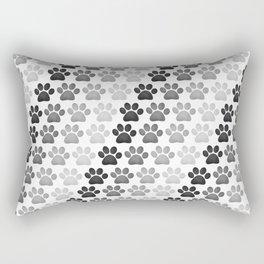 Paw Prints Pattern Rectangular Pillow
