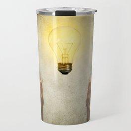 bulb idea Travel Mug