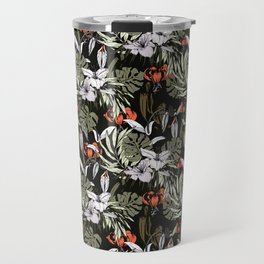 Dark tropical pattern I Travel Mug