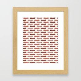 Cute vector sausages cartoon Framed Art Print