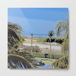 Marco Island, Florida South Seas Balcony View of Ocean Metal Print