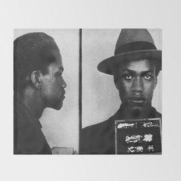 Malcolm X Mugshot Throw Blanket