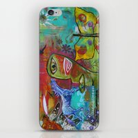 medicine iPhone & iPod Skins featuring Medicine Warrior by Pixie Campbell