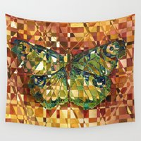 moth Wall Tapestries featuring Moth by S.G. DeCarlo