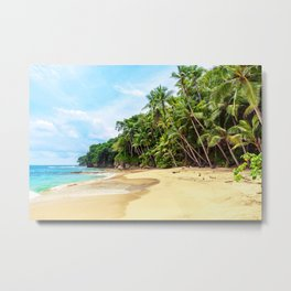 Tropical Beach - Landscape Nature Photography Metal Print