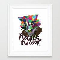 rocket raccoon Framed Art Prints featuring Rocket Raccoon by Mary HB Nguyen