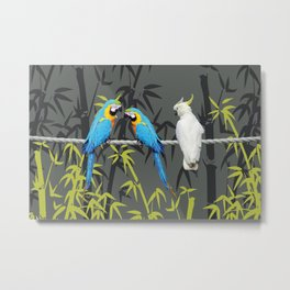 Kakadu - Macbambooaw Bambus Rope Jungle Metal Print