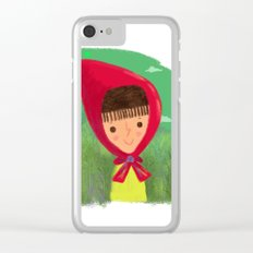 Little Red Riding Hood Clear iPhone Case