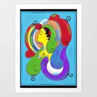Profile in Color Art Print