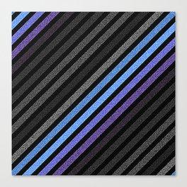 stripES Blue Periwinkle Gray Pixels Canvas Print