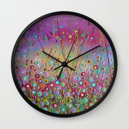 Happiness Within Wall Clock