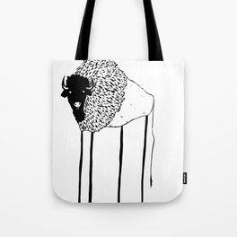 Creepy Buffalo Tote Bag