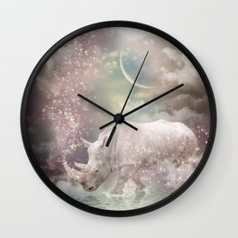 The Most Beautiful Have Known Defeat, Suffering, Struggle... (Rhino Dreams)  Wall Clock